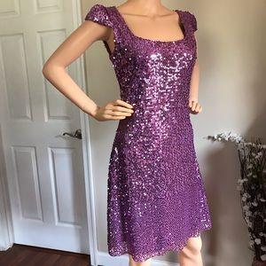 Betsey Johnson Women's Pink Sequins Dress